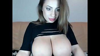 super busty girl teases on cam.