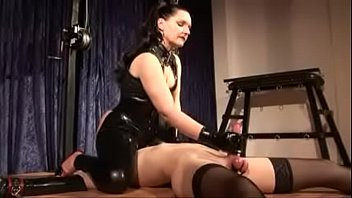 mistress silvia trains slave to suck cock and.