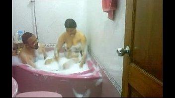 indian couple taking bath soaping each other bhabhi.
