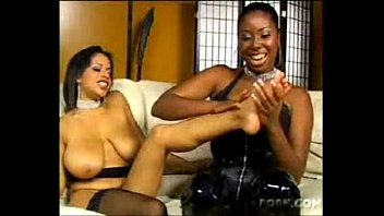 hot bigtitty black lesbians worshiping feet and juicy pussies