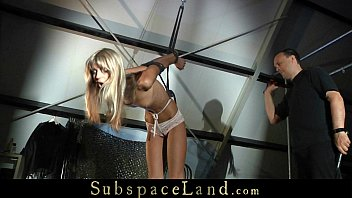 very skinny slave hard tormented and.