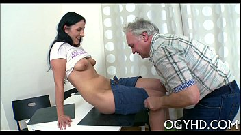 young girl blows old dick