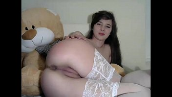 naughty brunette sister showing pussy on cam -.