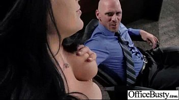 hardcore action in office with big tits slut.