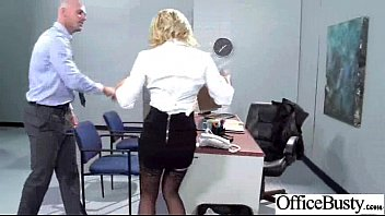 sex tape with round big tits horny office.