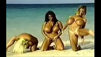 huge tits nude beach party