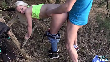 public hardcore with skinny young blonde