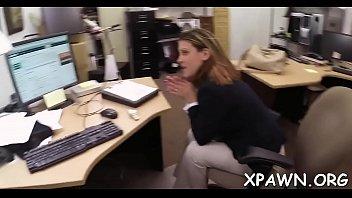 charming slut sex in shop