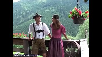 german couple fucks in the mountains