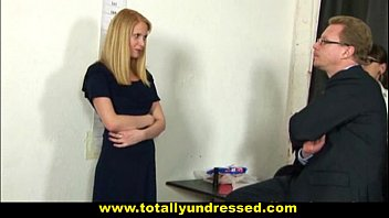 embarassing nude job interview for shy 19 y.o..