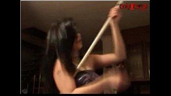 crazy dancing webcam girl
