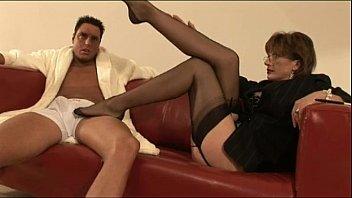 mature british stockings slut feet licking