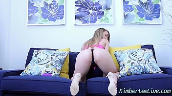 busty teen kimber lee cums with.