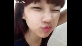 cute thailand girl selfshot pink hairy.