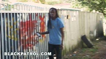 black patrol - black grafiti artist gets fucked.