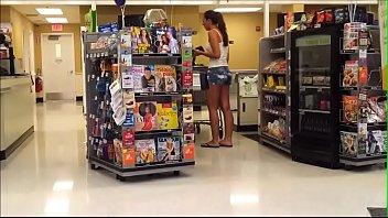 hot girl in jean shorts