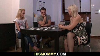 guy leaves and his mother toying.