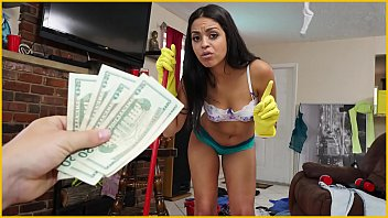 bangbros - sexy, young latina maid cleans up.