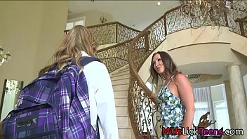 delightful lesbian mom with her stepdaughter