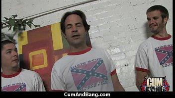 interracial slut hardcore group facial 8