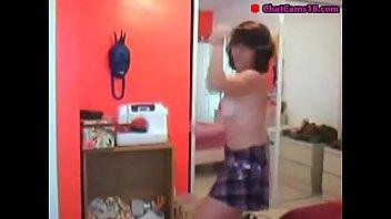 girl caught on webcam part 37.