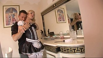 maid gets big hard assfuck in super bedroom.