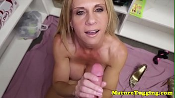 bigtitted cougar milf jerks pov guy.