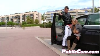 awesome european newbie enjoys public-nudity