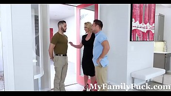 hot milf phoenix marie fucks father &amp_ son.