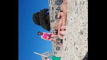 chilenas en la playa 2 se.