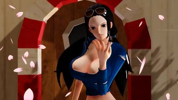 -mmd one piece- nico robin twerking.