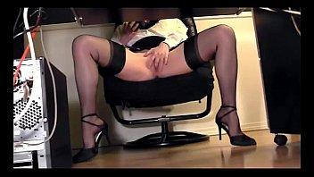 leggy secretary under desk voyeur cam.