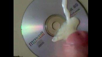 huge thick load splatted on cd