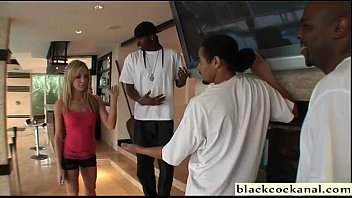 blonde slutwife cheats with 3 black.