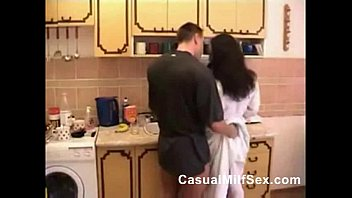 mom from casualmilfsex.com and young boy kitchen fuck.
