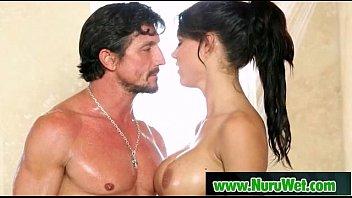 busty pornstars get oil massage 11