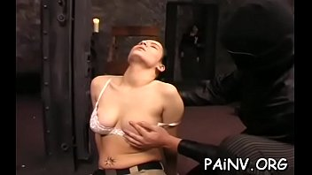 youngsted gets some nipple castigation while being tied up