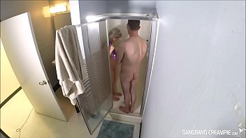 two horny milf moms sucking cocks then taking showers