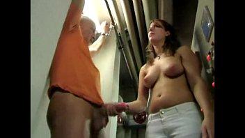 german girl jerks her boss