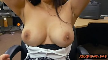woman flashes her big tits and.