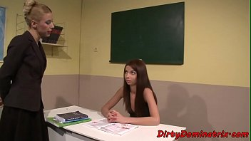 teacher mistress dildoing submissive student