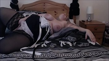 bbw maid catches you wanking -.