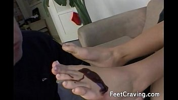 hottie getting her feet and toes.