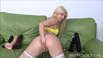 petite blonde holly hanna gapes her ass with.