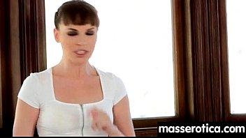petite girl gives big boobs lesbian an orgasm.