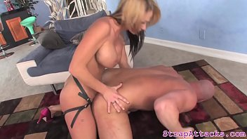 milf dominatrix pegging sub and gives.