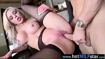 (nina elle) nasty horny milf banged by big.