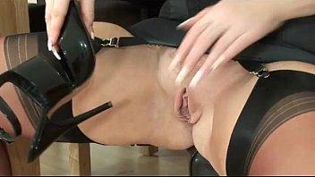 mature lingerie slut fingering herself