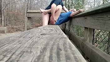 Picnic Table Turns Into A Perfect Outdoor Bed Made For Fucking!