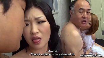 two japanese wives get fucked and facialized side.